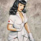 Bettie Page Poster Flag Nurse Tapestry