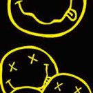 Nirvana Fabric Door Poster Smiley Faces New