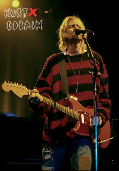 Kurt Cobain Poster Flag Stage Nirvana Tapestry