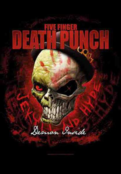 Five Finger Death Punch Poster Flag Demon Inside Tapestry