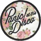 Panic At The Disco Iron-On Patch Round Floral Logo