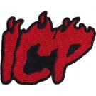 Insane Clown Posse Iron-On Patch Red ICP Letters Logo
