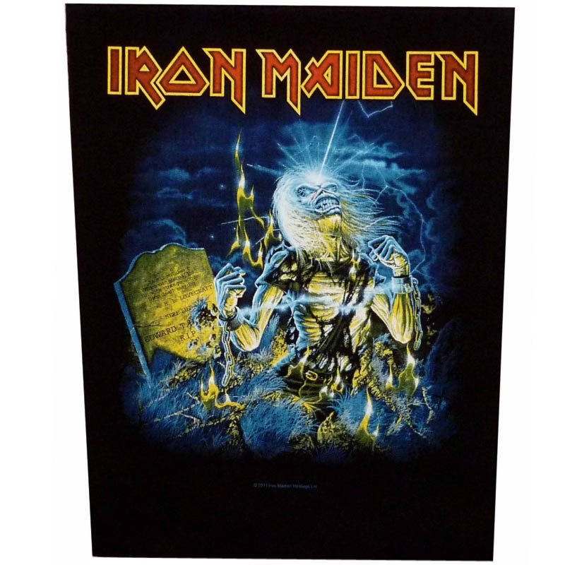 Iron Maiden Sew On Canvas Back Patch Live After Death Logo