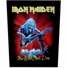 Iron Maiden Sew On Canvas Back Patch Fear Of The Dark Live