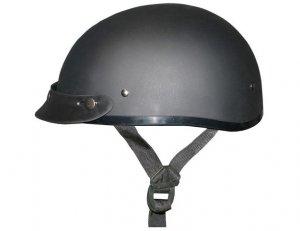 DULL BLACK Helmet - Daytona Skull Cap w/ Visor