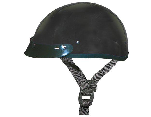 GLOSS BLACK Helmet - Daytona Skull Cap w/ Visor