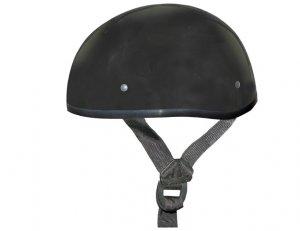 GLOSS BLACK Helmet - Daytona Skull Cap w/out Visor