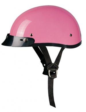GLOSS PINK Helmet - Daytona Skull Cap w/ Visor