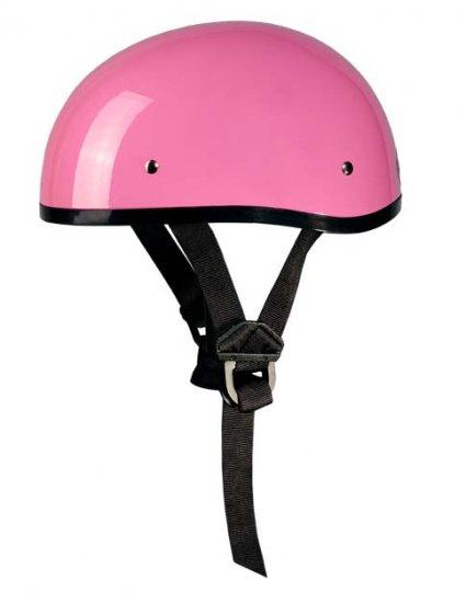 GLOSS PINK Helmet - Daytona Skull Cap w/out Visor