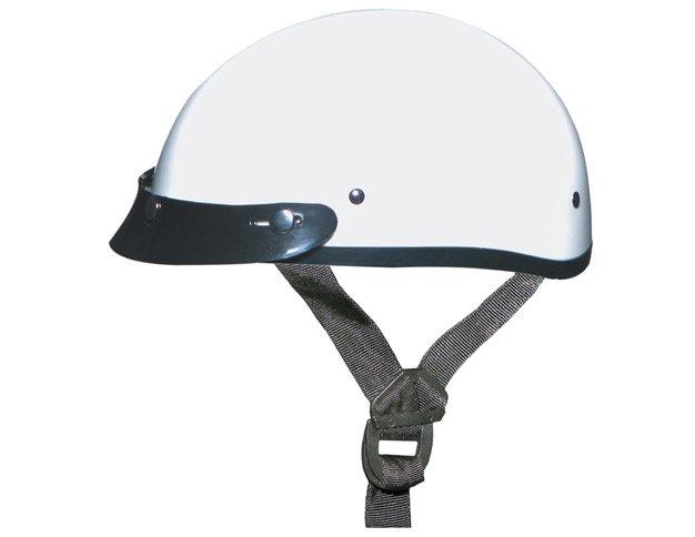 GLOSS WHITE Helmet - Daytona Skull Cap w/ Visor
