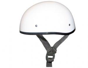 GLOSS WHITE Helmet - Daytona Skull Cap w/out Visor