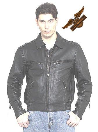 Black Jacket w/ Hidden Collar - Naked Leather