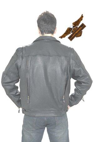 Black Jacket w/ Side Laces - Soft Leather