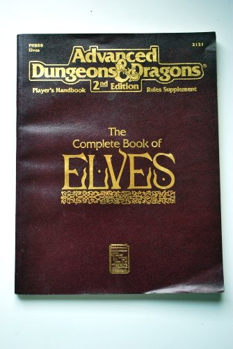 Book, Vintage, Gaming, Advanced Dungeons & Dragons 2nd Edition, Complete Book of Elves