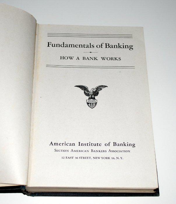 Textbook, Vintage, Fundamentals of Banking, 1947