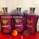 Lot of 3 Bath and Body Works Strawberry Sparkler  Shower Gel $33