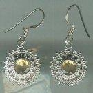 Sterling Silver .925 Citrine Bezel Set Dangle earrings $34.99