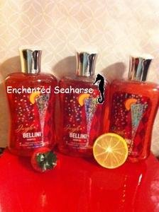 Lot Of 3 Bath And Body Works Jingle Bellini Peach Shower