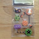 New Scrapbook Embellishment stickers Halloween lollipops $2.99