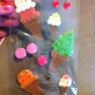 New Scrapbook Embellishment Sticker Icecream Cones Cherries $2.99