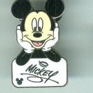 Mickey Mouse Hands on Cheeks Signature Cast Lanyard Collection Pin WDW Disney $14.99