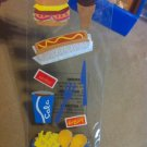 New Scrapbook Sticker Embellisment Cheesebuger Chicken Hotdog Fries Soda $2.99