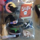 New Scrapbook Embellishment Sticker Halloween Witch Spells Cauldron Broom Hat Frog $3.99
