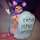 Annalee Mobilitee Doll Halloween Graveyard Witch Mouse Tombstone Tomb It May Concern $22.99