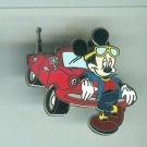2004 Walt Disney World Mickey Mouse Cool Red Convertible Car Pin $14.99