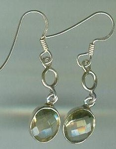 Sterling Silver Bezel Set Citrine Earrings $19.99
