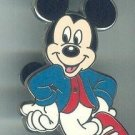 Walt Disney World Mickey Mouse Hands on Hips Pin Red White & Blue 50's look $9.99
