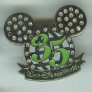 Walt Disney World 2006 35th Aniversary Silver Epcot Ball  Mickey Ears Pin $7.99