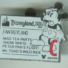 2005 Cast lanyard Series Disneyland Fantasy Land Coupon Ticket C Pin $6.99