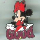 Walt Disney World 2010 Good Minnie Mouse Pin Hidden Mickey 4 of 5 $4.99