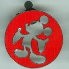 Disney World Red Mickey Mouse Cookie Cutter Silouhette Pin $9.99