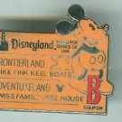 Walt Disney Castlanyard Series Disneyland B Coupon Ticket Pin Frontier Land 2005 $9.99