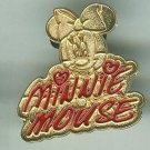 Walt Disney World Golden Minnie Mouse Signature Pin 2004 $6.99