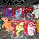 Lot of 9 Mcdonalds TY Small Beanie Babies Bears $19.99