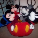 Walt Disney 70 Happy Years Plush Stuffed Animal Mickey Mouse Set