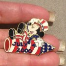Authentic Walt Disney July 4th 2000- Mickey on Firecracker Patriotic Pin LE10000