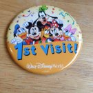 New1st Visit Walt Disney World Badge Fab 6 Pin Donald Mickey Minnie Pluto Goofy