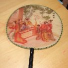 "Beautiful Oriental Asian Geisha Lady Hand Held Silk 14"" Fan N"