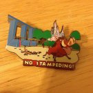 Authentic Wild about Safety No Stampeding Disney Pin
