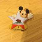 Authentic 2001 California Republic Star Mickey  Mouse Pin
