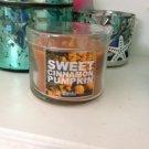 Bath and Body Works Mini Sweet Cinnamon Pumpkin Candle 1.3oz plastic lid