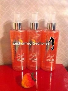 Lot of 3 Bath and Body Works Jingle Bellini Peach Fragrance Shimmer Mist Sprays $32.99