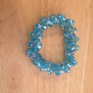 Blue Stretch Bracelet. Contains over 65 crystals. Stretchy to fit most wrists