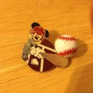 Authentic Disney 2002 Baseball & Bat Mickey Mouse Pin