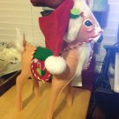 "Annalee Mobilitee 16"" Christmas Santa Peppermint Reindeer New with Tags $54.99"