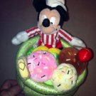 Mickey Mouse Icecream Sundae Cone Dish Plush Stuffed Animal Toy $24.99